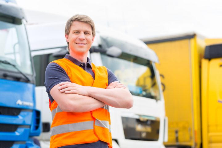 HGV driver with fleet